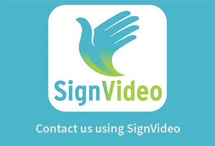 Contact us using SignVideo